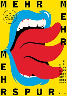 Mehrspur Posters / affiches by Dernier étage (Adrien Moreillon + Benjamin Burger) Switzerland, Zurich Cover Design, Graphisches Design, Icon Design, Print Design, Design Color, Shape Design, Poster Layout, Poster S, Typography Poster