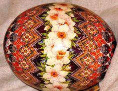 Ostrich egg pysanka by Ulyana...beautiful