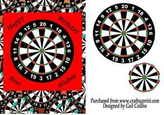 Who s for Darts on Craftsuprint designed by Gail Collins - a great card for any male or dart player. - Now available for download!