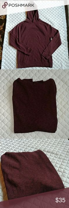 Banana Republic hoodie Used once, no issues.  Kinda a Burgundy with black speckle for a color.  Looks like a thermal as well, texture too. Banana Republic Shirts Sweatshirts & Hoodies