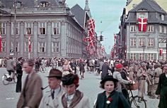During most of World War II, Denmark was first a protectorate, then an occupied territory under Germany. The decision to invade Denmark was . Colorful Pictures, Old Pictures, Old Photos, Denmark History, Number The Stars, Some Beautiful Images, Odense, Aarhus, Copenhagen Denmark