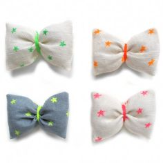 puffy bow hair clip
