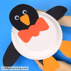Make a fun paper plate penguin craft. Penguin craft for kids to make. Fun art project for winter or learning about penguins. Make a fun paper plate penguin craft. Penguin craft for kids to make. Fun art project for winter or learning about penguins. Bee Crafts For Kids, Paper Plate Crafts For Kids, Frog Crafts, Winter Crafts For Kids, Toddler Crafts, Preschool Crafts, Paper Crafting, Crafts To Make, Kids Diy