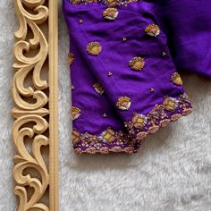 Hand Work Blouse Design, Blouse Back Neck Designs, Blouse Designs Silk, Saree Designs Party Wear, French Knot Embroidery, Long Dress Design, Embroidery Neck Designs, Pure Products, Maggam Works