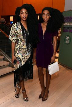 TK and Cipriana Quann are two of New York City's most stylish and recognizable residents—here, we talk to the twins about smoothie recipes, fashion faves, and one natural-hair tip you haven't heard. Wonder Twins, Tk Wonder, Quann Sisters, Cipriana Quann, Afro, Star Fashion, Womens Fashion, Tropical Dress, Her Style