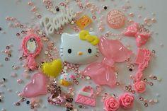 US Seller-DIY Hello Kitty Phone Case Flatback Cabochons Kawaii Kit
