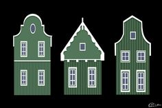 Dutch houses by ~Vijolea on deviantART