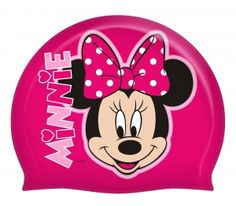 Pink swimming cap with a Minnie Mouse. Perfect for your kid's swimming lessons! #backtoschool