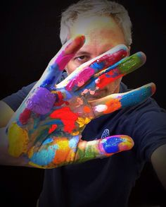 The creative hand.--artist Simon Bull. One of my favorite artists ever :)