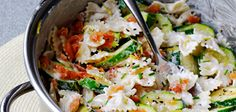 Salmon and Courgette pasta - grate some lemon zest over the top before serving :)