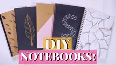 DIY Tumblr Notebooks For Back to School 2018! Easy DIY School Supplies!
