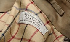 """Lining made from original check pattern cotton""."