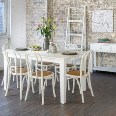 Lily 1800 Dining Package with 6 x Benta Chairs (Table:  1800W x 900D x 785H mm; chairs:  400W x 400D x 900H mm) RRP $1,350
