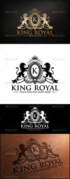 King Royal Logo Template — Vector EPS #label #emblem • Available here → https://graphicriver.net/item/king-royal-logo-template/8022060?ref=pxcr