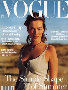 Tatiana Patitz, photo by Mikael Jansson, Vogue UK, May Vogue Magazine Covers, Fashion Magazine Cover, Fashion Cover, Vogue Covers, Magazine Spreads, Tatjana Patitz, Vogue Uk, Miranda Richardson, German Fashion