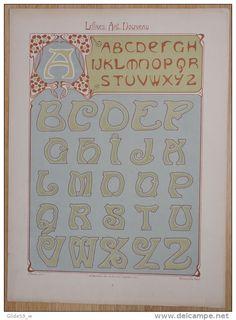 Lettres et Enseignes Art Nouveau - 1ère Série - Etienne Mullier (1900) - Pl 4 Lettres grasses