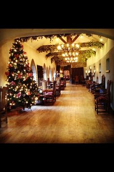The Grand Entrance Hall at Barberstown Castle, Christmas time Grand Entrance, Christmas Time, Castle, Table Decorations, Winter, Home Decor, Winter Time, Grand Entryway, Decoration Home