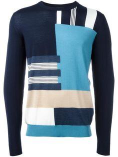 SALVATORE FERRAGAMO patterned stripe jumper. #salvatoreferragamo #cloth #스웨터