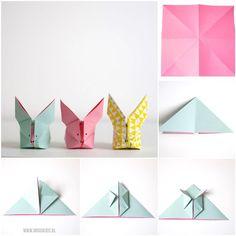 origami rabbit diy by Wimke