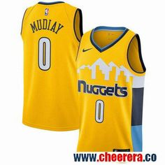 Men s Nike Denver Nuggets  0 Emmanuel Mudiay Yellow NBA Swingman Statement  Edition Jersey Cheap Nba 81c8ebb28