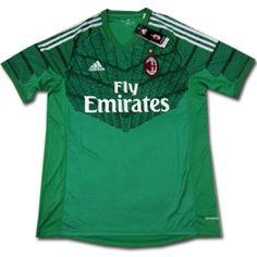 865243250 14-15 AC Milan Goalkeeper Green Soccer Jersey Shirt