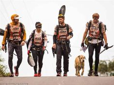 This is the most extreme version ever of Homeward Bound. A Swedish adventure racing team stopped for a meal in Ecuador before the final 2 stages of a 430-mile race through the rainforest when they saw a  stray dog. Mikael Lindnord, one of the racers, pitied the thing and tossed the dog a meatball to eat. The dog then followed them for the rest of the race through deep jungle and mud on a 20-mile trek, even swimming alongside the team's kayaks for one portion. Read the rest of the story...