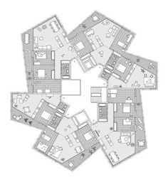 Grands Esserts Veyrier Accommodations by Dreier Frenzel Architecture + Communication Residential Building Plan, Building Plans, Hotel Floor Plan, Architecture Résidentielle, Architectural Floor Plans, Plan Drawing, Apartment Plans, Plan Design, Architect Design