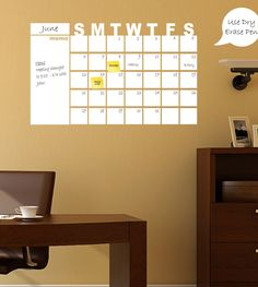 Monthly Dry Erase Calendar Dry Erase Calendar With Left Memo Area - Dry Erase Wall Calendar, Dry Erase Wall Planner by Total Sign Solutions by TOTALSIGNSOLUTIONS on Etsy