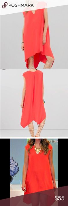Rachel Roy - Roy Sydney High-Low Dress A high low Hem and V-neckline makes this Sydney Dress a date nights must have. Welt Pockets at side hips. Rachel Roy Dresses High Low