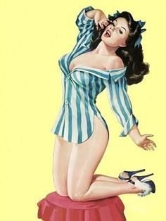 Pin-up: boyfriend's shirt