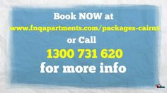 Cairns Holiday Family Breakaway Package. Learn more about the Cairns Holiday Accommodation Family Breakaway Package. Call 1300 731 620 for more info or visit http://www.fnqapartments.com/ now.