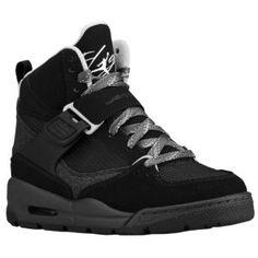 Jordan Flight 45 Trek - Boys' Grade School - Basketball - Shoes - Black/White/Anthracite/Stealth 100