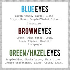 makeup pairing color of  makeup according to eye color.