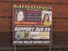 #Missing poster for Kayla Berg outside of Antigo Police Department. #http://Disappearedpic.twitter.com/5POoMH4pvg