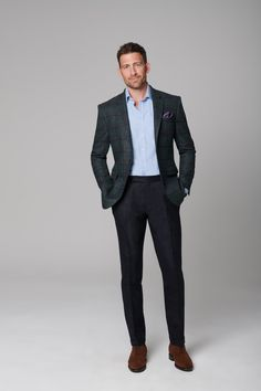 Smart Casual Outfit, Formal Men Outfit, Smart Casual Menswear, Men Casual, Business Casual Men, Business Outfits, Business Fashion, Mens Fashion Suits, Mens Suits