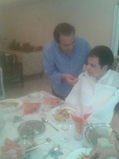 Check out Bollywood legends. Dharmendra feeding Dilip Kumar on a special meeting they had yesterday.