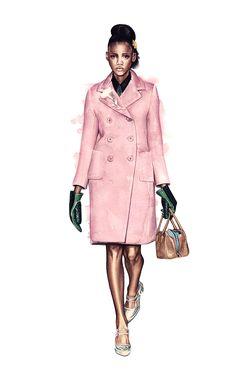 Davide Morettini. Fashion illustration on Artluxe Designs. #artluxedesigns