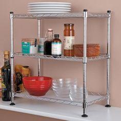 Tabletops Gallery Stax Living Kitchen Countertop Racks Corner Shelf Home