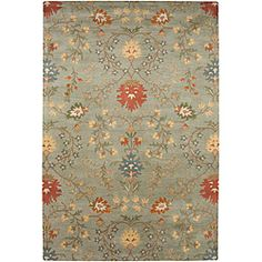 @Overstock - Hand-tufted Ivory, Red and Green Wool Rug (8' x 11') - Give any room a garden-inspired feel with this large hand-tufted wool rug. This handsome rug has a thick, luxurious pile height that your toes will love to sink into and features an all-over floral print that exudes a cozy, inviting vibe.    http://www.overstock.com/Home-Garden/Hand-tufted-Ivory-Red-and-Green-Wool-Rug-8-x-11/6506754/product.html?CID=214117  $371.69