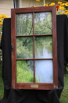 Recycled Cabin Window Spring Waters by temrillstudio on Etsy, $325.00