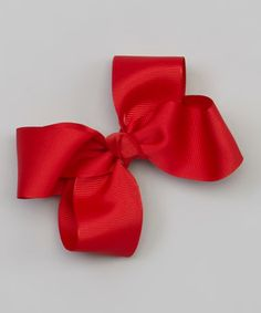 Look at this #zulilyfind! The Bow Band Crimson Bow Barrette Clip by The Bow Band #zulilyfinds