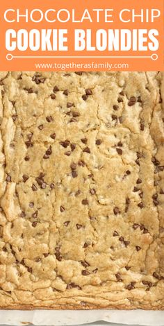 4 Points About Vintage And Standard Elizabethan Cooking Recipes! Blondies Blondie Recipe The Best Blondies Are A Chewy Cookie Bar Loaded With Chocolate Chips These Bars Bake In One Pan And Are So Simple To Make. They Bake Up Perfectly Sweet and Chewy Each Brownie Cookies, Chocolate Chip Shortbread Cookies, Chocolate Chip Cookie Bars, Yummy Cookies, Blondies Cookies, Desserts With Chocolate Chips, Baking Cookies, Chocolate Flavors, New Year's Desserts