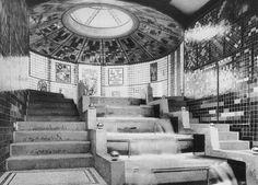 Taut Glass Pavilion interior 1914 - Glass Pavilion - Wikipedia, the free encyclopedia