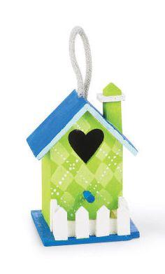 Argyle Pattern Mini Birdhouse