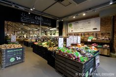 EkoPlaza concept store in Amsterdam. Dutch supermarket with only biological goods. #food #retail #design