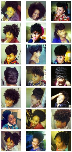 So many styles for natural hair!