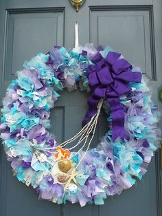 A Little Mermaid inspired wreath by CinderBlooms on Etsy