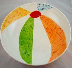 Cute beach ball platter. Cool idea for summer!