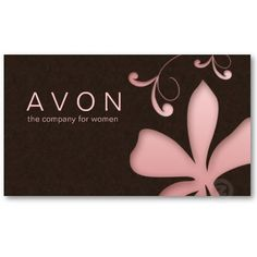 Avon Business Card Avon and Avon products