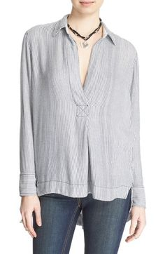 FREE PEOPLE 'On The Road' Stripe Tunic Top. #freepeople #cloth #
